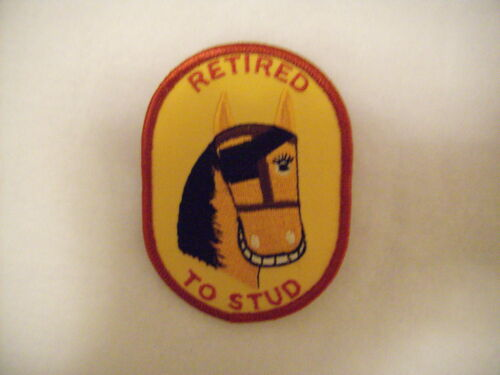 New Mens Gold Horse Retired to Stud Gold Patch