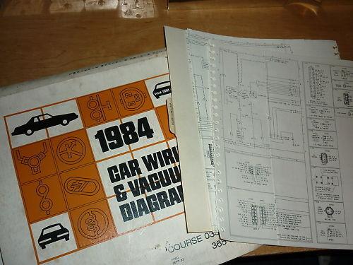 1984 Ford Thunderbird Cougar Wiring Diagrams Manual Set