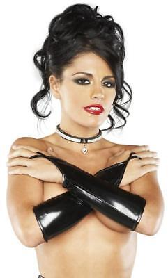 Lingerie Black Fingerless Pleather Onyx Gloves Q/s