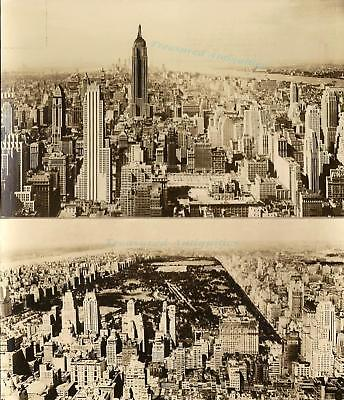 1940S New York Empire State Central Park Rca Building Real Photograph Postcards