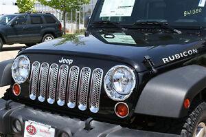 2007-2012-Jeep-Wrangler-Putco-Chrome-Grille-Insert-Mesh-Grill-400523-Brand-New
