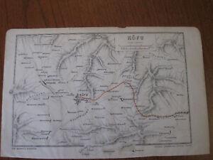 "Nice Antique Map c. 1900 ""Kofu"" Toyodo Eng"