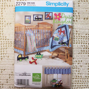 Simplicity 2279 Nursery Quilt Amp Toy Accessories Pattern Ebay