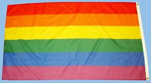 GAY PRIDE RAINBOW  FLAG  FESTIVAL CARNIVAL 5FT X 3FT
