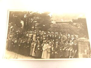 VINTAGE REAL PHOTO POSTCARD ENGLISH FAMILY GATHERING