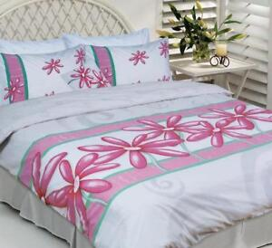 LISA POLLOCK~Daisy Pink White~QUEEN Quilt Cover Set