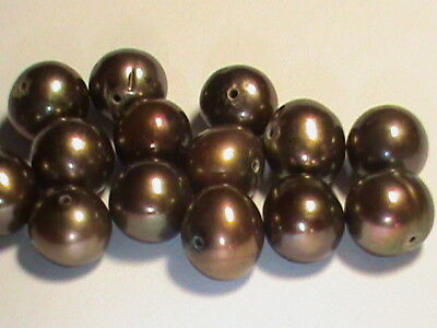 48 Pearls Gorgeous Chocolate Color 6 - 7 MM Pearl Size