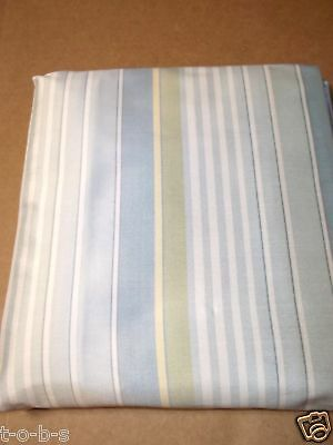 pottery barn elizabeth stripe green blue yellow bed duvet cover twin silk ebay. Black Bedroom Furniture Sets. Home Design Ideas