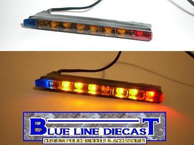 1/18 Flashing Led Police Interior Traffic Advisor Lightbar Custom Diecast Models