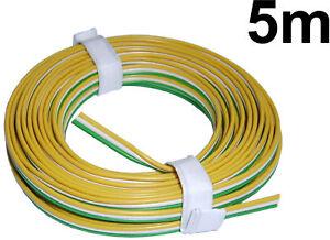 5m litze 3 adrig gr n wei gelb 0 64 m modellbahn kabel zu trix weichen neu ebay. Black Bedroom Furniture Sets. Home Design Ideas