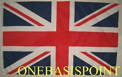 3'x5' British Flag Outdoor Uk Union Jack Huge 3x5 United Kingdom Britain England