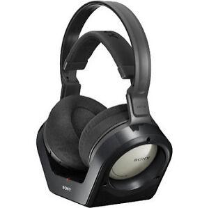 Sony-MDR-RF925RK-Over-the-Head-Wireless-Headphones-Black-Binaural-Earcup