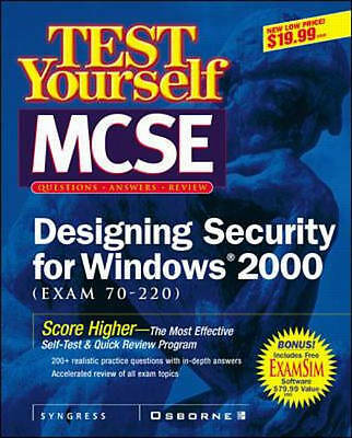 Test Yourself: Test Yourself MCSE Designing Security for Windows 2000 (Exam