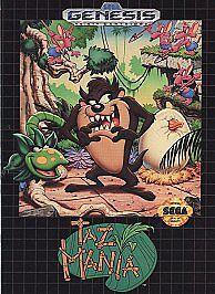 Taz-Mania Sega Genesis, 1992  - $2.10
