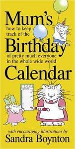NEW Mum's Birthday Perpetual Wall Calendar Wall Calendar Free Shipping