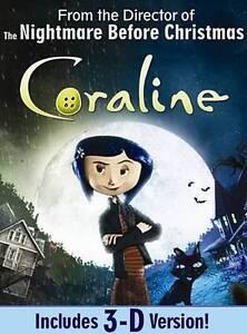Coraline (DVD, 2009, Canadian) Brand New Dakota Fanning