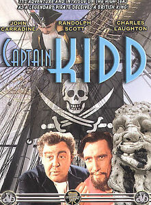 CAPTAIN KIDD DVD- NEW -John Carradine-Randolph Scott-Charles Laughton SHIPS FREE