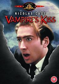 Vampire's Kiss [DVD] Nicolas Cage. 1989. Uk Region 2 Genuine. Rare.