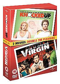 Knocked Up / 40 Year Old Virgin (DVD, 2007, 3-Disc Set, Box Set) VERY GOOD