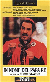 In nome del Papa Re (1977) VHS  Mondadori Video 1a Ed.Nino Manfredi Luigi Magni