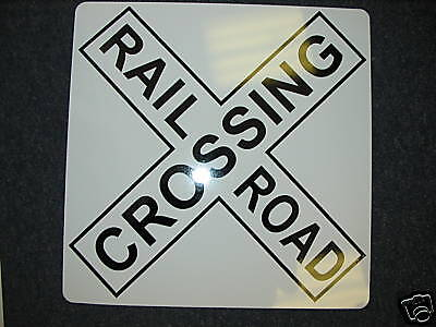 Railroad Crossing X Metal Sign Model Train Rail Road Conductor Road Safety