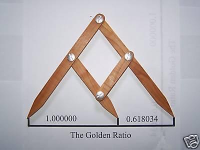 Fibonacci Gauge, Golden Ratio, Golden Mean Design Tool, PHI Caliper