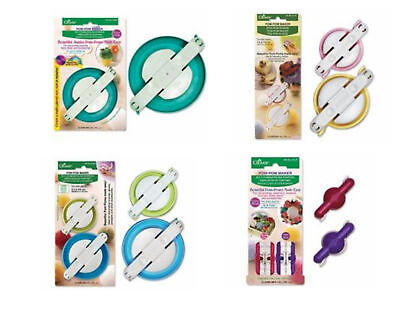 7 Clover Pom-Pom Makers X/Small, Small, Large, X-Large 3124 & 3126 & 3127 & 3128