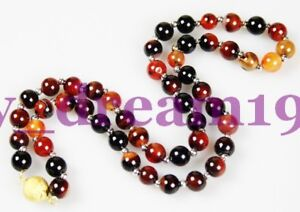 8mm-mix-color-Dragon-Veins-Agate-Gems-Beads-necklace-20