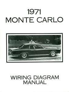 1971 Chevrolet Monte Carlo Wiring Diagram Manual | eBay