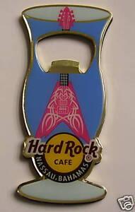 NASSAU BAHAMAS,Hard Rock Cafe,Bottle Opener Magnet