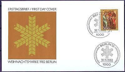 Berlin 1982: Weihnachten! FDC Nr. 688 mit sauberen Ersttags-Sonderstempeln! 156