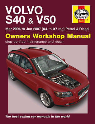 Volvo S40 V50 Petrol Diesel Haynes Manual 4731 NEW