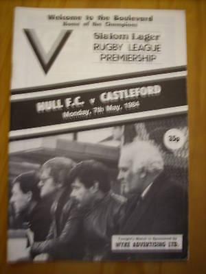 Hull v Castleford programme 7.5.84