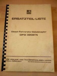 DDR-VEB-Gabelstapler-Ersatzteilliste-Anleitung-VTA-Takraf-Stapler-DFG-3202-N