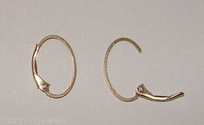 One Pair INTERCHANGEABLE Oval Leverback Earring Wires 14K Gold Filled