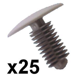 25x-Grey-Fir-Tree-Trim-Clips-9-10mm-hole-24mm-head