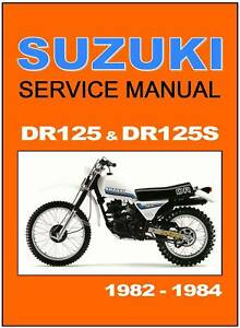 Suzuki Dr 125 Service Manual Free Download