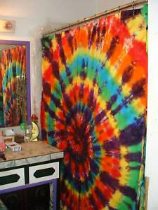 tie dye shower curtain you design you pick the colors. Black Bedroom Furniture Sets. Home Design Ideas