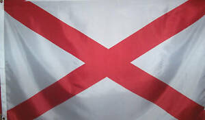 ALABAMA STATE FLAG - CONFEDERATE  - ST PATRICKS CROSS