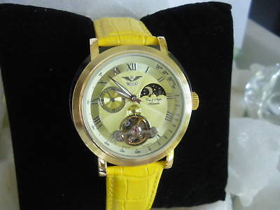 Minoir Armbanduhrmistral Gelb Automatikuhr