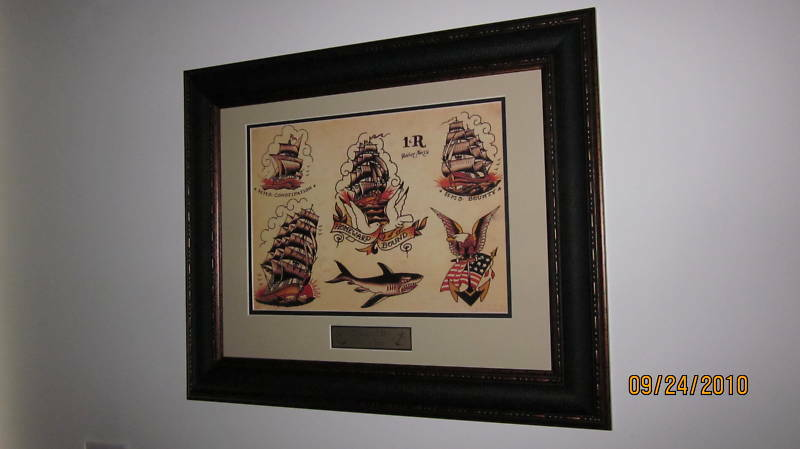SAILOR JERRY Tattoo Flash Frame HOMEWARD BOUND shark | eBay