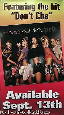 PUSSYCAT DOLLS 2005 PCD ORIGINAL PROMO POSTER JUMBO OVER SIZED