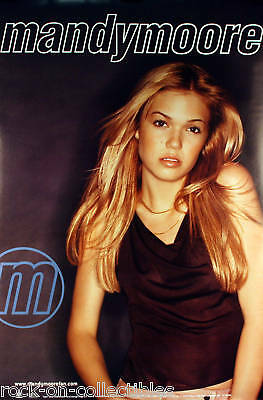 MANDY MOORE 2000 I WANNA B WITH YOU PROMO POSTER ORIGINAL