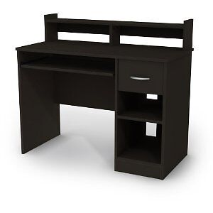 Black-Student-Compact-Office-Dorm-Wood-Computer-Desk-Durable-Bedroom-with-Drawer