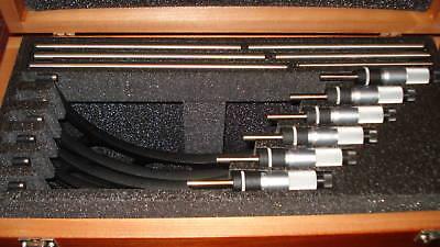Starrett Metric Micrometer Set S436mdxrlz 150-300mm 6pc