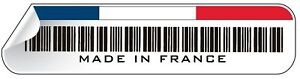 MADE IN FRANCE barcode sticker renault citroen puugeot