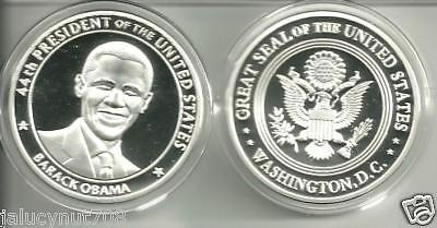 44TH PRESIDENT BARACK OBAMA~CHANGE~SILVER COMMEMORATIVE COIN