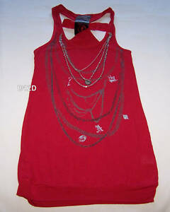 Alice-In-Wonderland-Ladies-Red-Chain-Singlet-Size-S-New