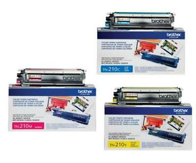 Genuine Brother Tn210c Tn210y Tn210m Toner Set (3-pack)