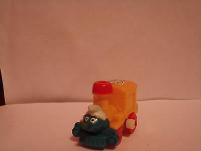 1982 Smurfs Wind Up Toy Train